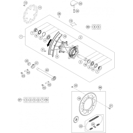 Roue arrière ( KTM 450 SX-F 2018 )