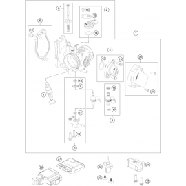 Papillon, corps d'injection ( KTM 450 SX-F 2018 )
