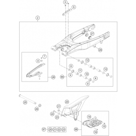 Bras oscillant ( Husqvarna TE 125 2016 )