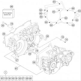 Carter moteur ( Husqvarna TE 250 2016 )