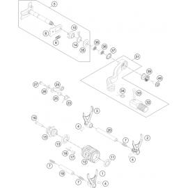 Mécanisme Chgt vitesse ( Husqvarna TE 250 2016 )