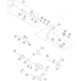Mécanisme Chgt vitesse ( Husqvarna TE 300 2016 )