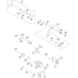 Mécanisme Chgt vitesse ( Husqvarna FE 250 2016 )