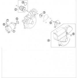 Démarreur électrique ( Husaberg TE 250 2014 )