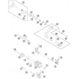 Mécanisme Chgt vitesse ( Husaberg TE 300 2014 )