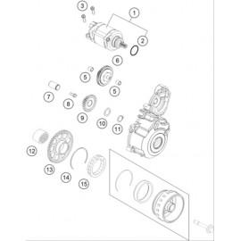 Démarreur électrique ( Husaberg FE 250 2014 )