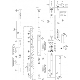 Fourche avant éclatée ( Husaberg FE 350 2014 )