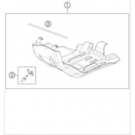 Protection moteur, sabot ( Husaberg FE 450 2014 )