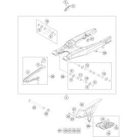Bras oscillant ( Husaberg FE 450 2014 )