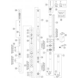 Fourche avant éclatée ( Husaberg FE 501 2014 )