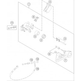 Etrier de frein arrière ( Husaberg FE 501 2014 )