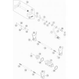 Mécanisme Chgt vitesse ( Husaberg FE 501 2014 )