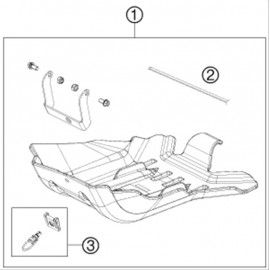 Protection moteur, sabot ( Husqvarna TE 125 2014 )