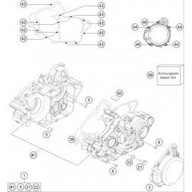 Carter moteur ( Husqvarna TE 125 2014 )