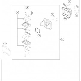 Boîte à clapets ( Husqvarna TE 125 2014 )