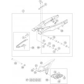 Bras oscillant ( Husqvarna TE 250 2014 )