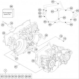 Carter moteur ( Husqvarna TE 250 2014 )