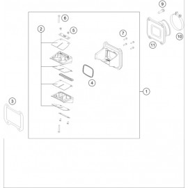 Boîte à clapets ( Husqvarna TE 250 2014 )