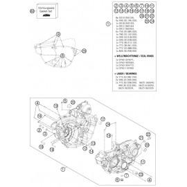 Carter moteur ( Husqvarna FE 350 2014 )