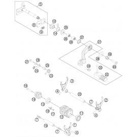 Mécanisme Chgt vitesse ( Husqvarna FE 350 2014 )