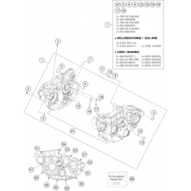 Carter moteur ( Husqvarna FE 450 2014 )