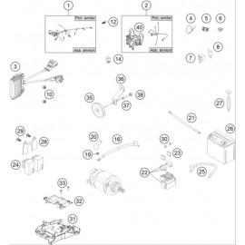 Cables, Faisceaux ( Husqvarna FE 501 2014 )
