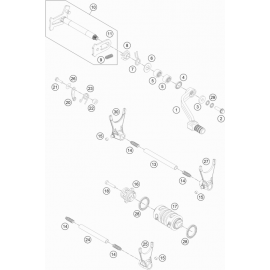 Mécanisme Chgt vitesse ( Husqvarna FE 501 2014 )