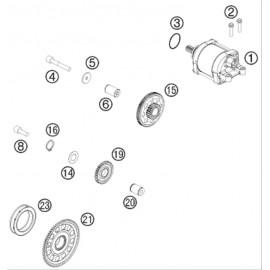 Démarreur électrique ( Husqvarna FE 501 2014 )