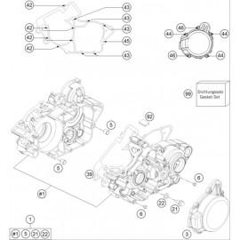 Carter moteur ( Husqvarna TE 125 2015 )