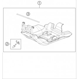 Protection moteur, sabot ( Husqvarna FE 250 2015 )