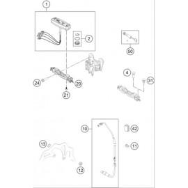Instrumentation, blocage colonne ( Husqvarna FE 250 2015 )