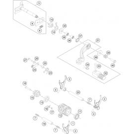 Mécanisme Chgt vitesse ( Husqvarna FE 350 2015 )