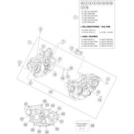 Carter moteur ( Husqvarna FE 501 2016 )