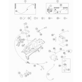 Cables, Faisceaux ( Husqvarna TE 250 2017 )