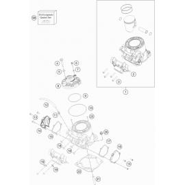 Cylindre, culasse ( Husqvarna TE 250 2017 )