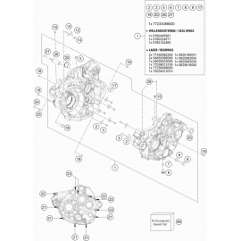 Carter moteur ( Husqvarna FE 350 2017 )