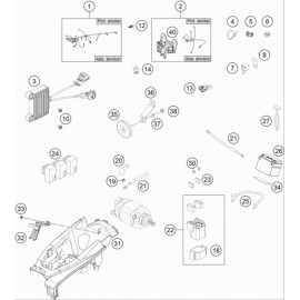 Cables, Faisceaux ( Husqvarna FE 501 2018 )