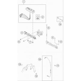 Instrumentation, blocage colonne ( Husqvarna TE 250 2019 )