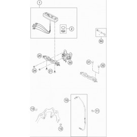 Instrumentation, blocage colonne ( Husqvarna FE 350 2019 )