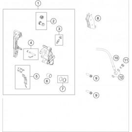 Etrier de frein avant ( Husqvarna TE 150 2020 )
