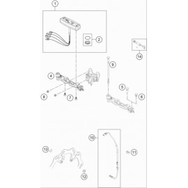 Instrumentation, blocage colonne ( Husqvarna TE 300 2020 )