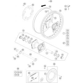 Roue arrière ( Husqvarna TC 85 17/14 2014 )