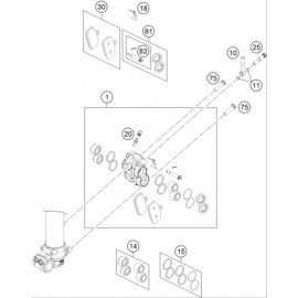 Etrier de frein avant ( Husqvarna TC 85 17/14 2014 )