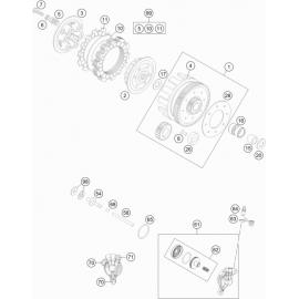 Embrayage ( Husqvarna TC 85 17/14 2014 )