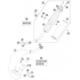 Echappement ( Husqvarna TC 85 19/16 2014 )
