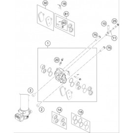Etrier de frein avant ( Husqvarna TC 85 19/16 2014 )