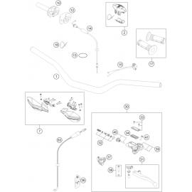 Guidon, Commandes ( Husqvarna TC 125 2014 )