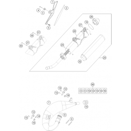 Echappement ( Husqvarna TC 125 2014 )