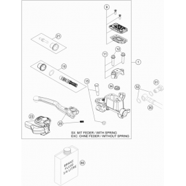 Cylindre de frein avant ( Husqvarna TC 125 2014 )