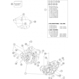 Carter moteur ( Husqvarna FC 250 2014 )